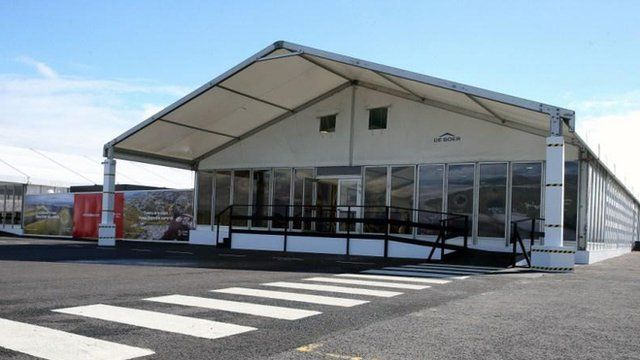 Temporary terminal at Cardiff Airport for Nato summit passengers