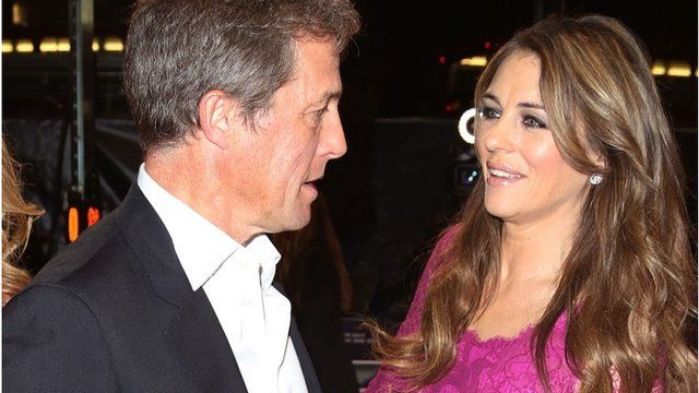 Hugh Grant and Liz Hurley reunited on red carpet - BBC News