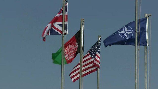 Flags at Camp Bastion