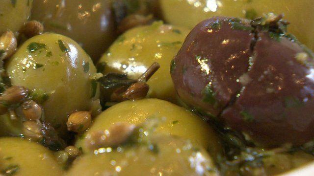 Mediterranean style olives