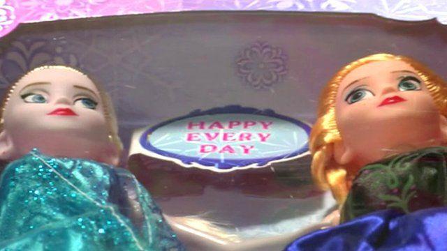 Counterfeit Disney dolls