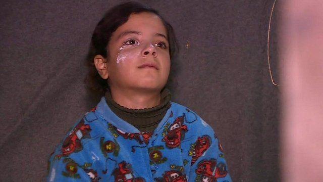 Syrian girl in Lebanon