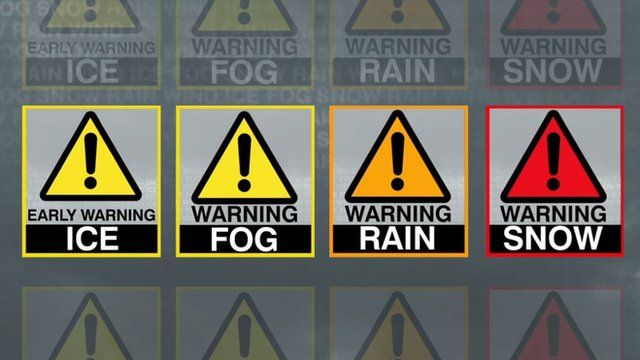 Met office weather warnings explained bbc news - Www met office weather forecast ...