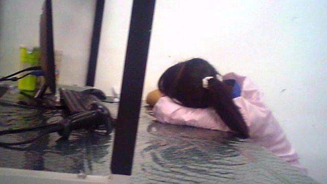 Secret filming of worker asleep during her shift