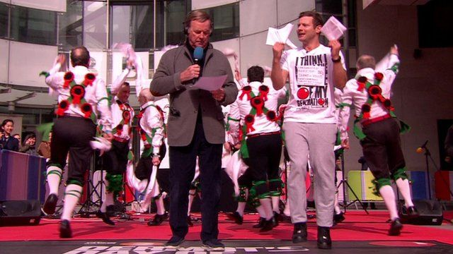 Sir Terry Wogan and Dermot O'Leary