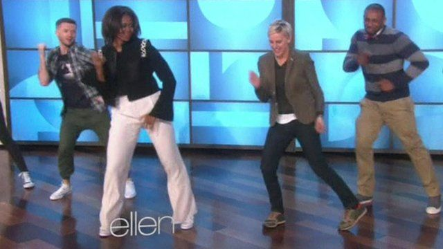 Michelle Obama Shows Off Her Dance Moves With Host Ellen