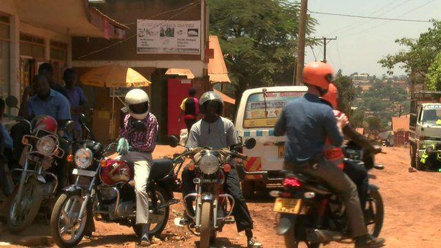 Boda boda motorcycle taxis