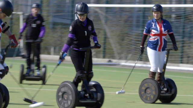 Segway polo players