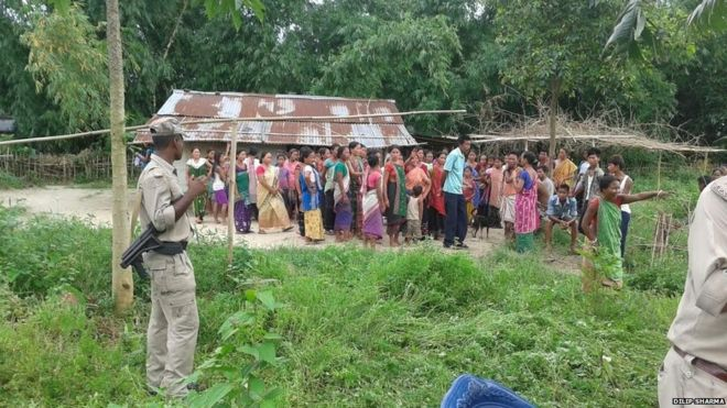 The village in Sonitpur district where the incident happened
