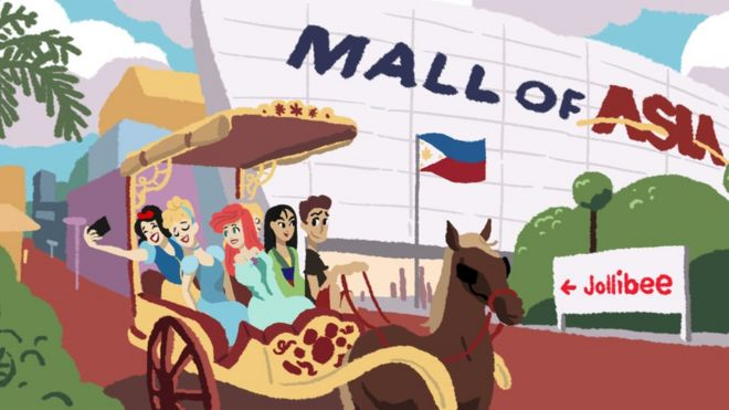 Disney princesses in Manila