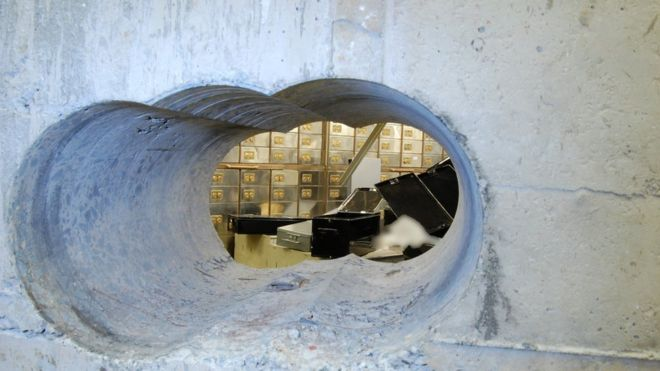 Hatton Garden Safety Deposit scene of robbery