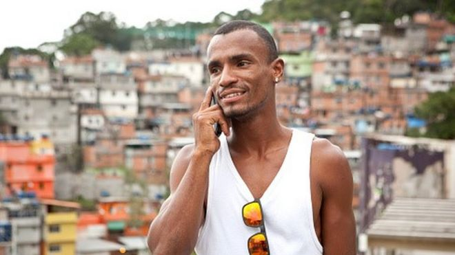 Brazilian man on his telephone (file photo)