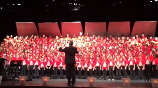 Canadian children singing in choir