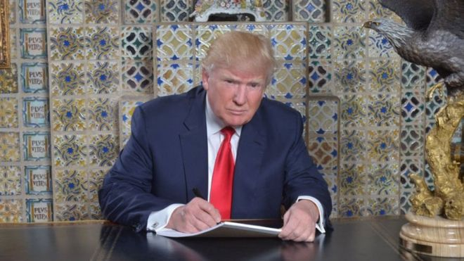 Donald Trump akiwa Mar-a-Lago
