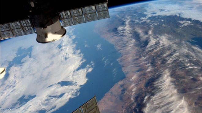 Imagen tomada por el astronauta de la NASA Jeff Williams desde la Estación Espacial Internacional