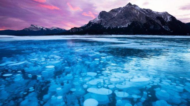 Las burbujas de metano congelado en Canadá