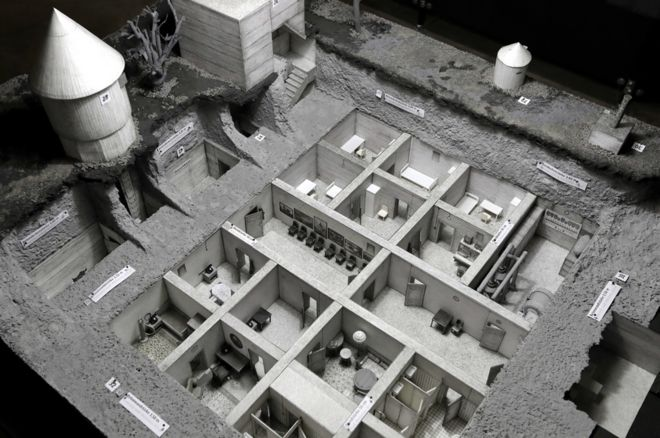 Model of bunker (AP pic)