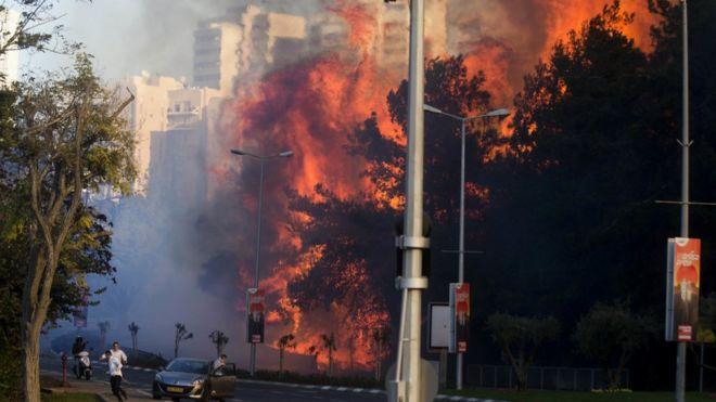 Огонь в Хайфе