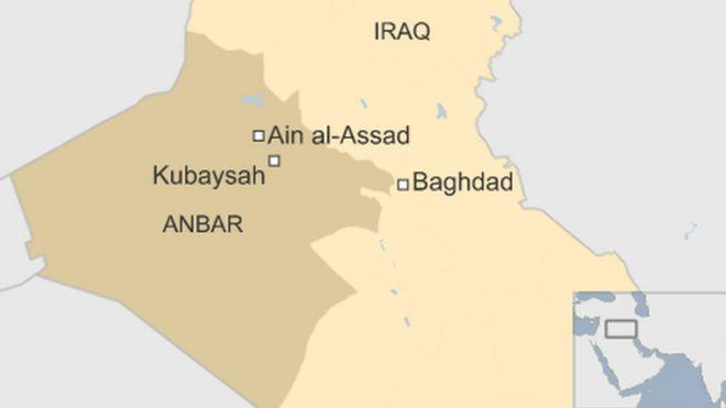 Map showing where kubaysah is
