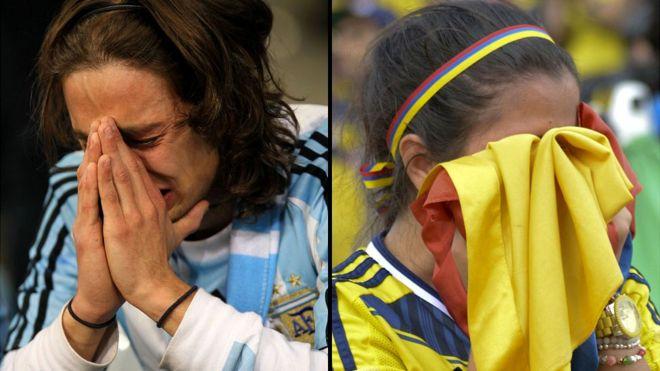 Argentino y colombiana frustrados