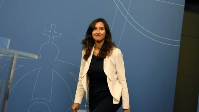 Outgoing Swedish Education Minister Aida Hadzialic, 13 August 2016, after announcing her resignation