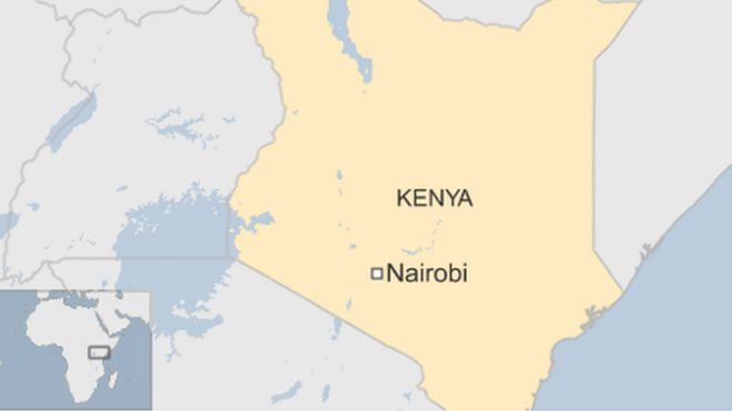 map of Kenya showing Nairobi, the capital
