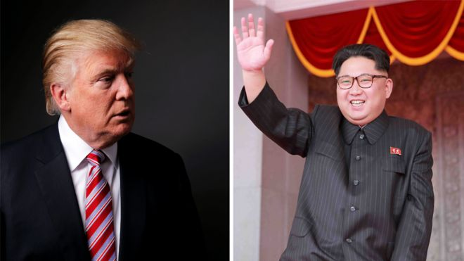 Donald Trump and Kim Jong-un