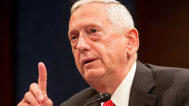 Gen James Mattis testifies before the House (Select) Intelligence Committee in Washington DC on 18 September 2014