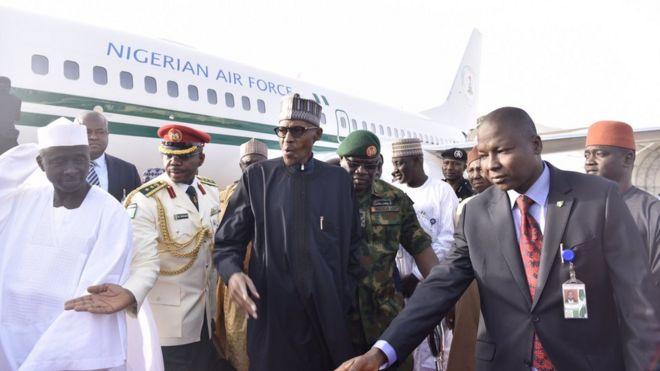 President Muhammadu Buhari arrives in Nigeria