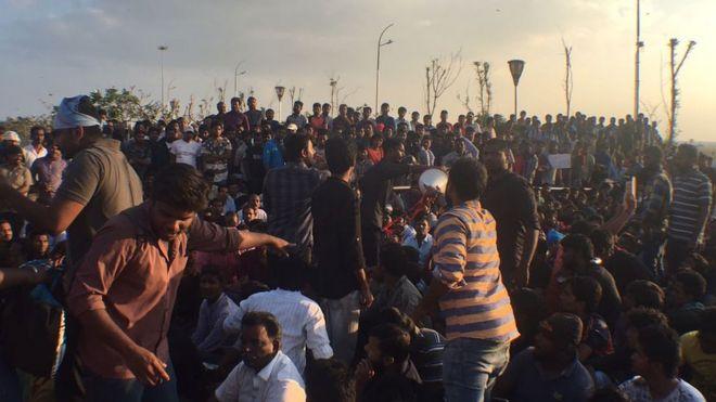 Thousands protest at India bullfighting ban
