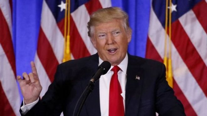 دونالد ترامپ، رئیس جمهور آمریکا