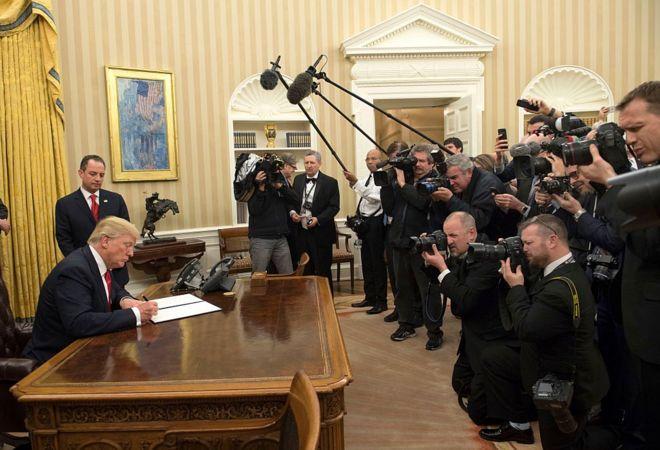 Trump no Salão Oval