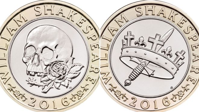 New Shakespeare £2 coins