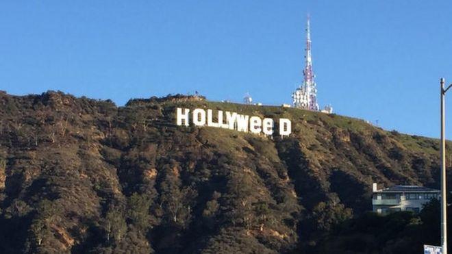 Jina la Hollywood lilibadilishwa na kuwa Hollyweed