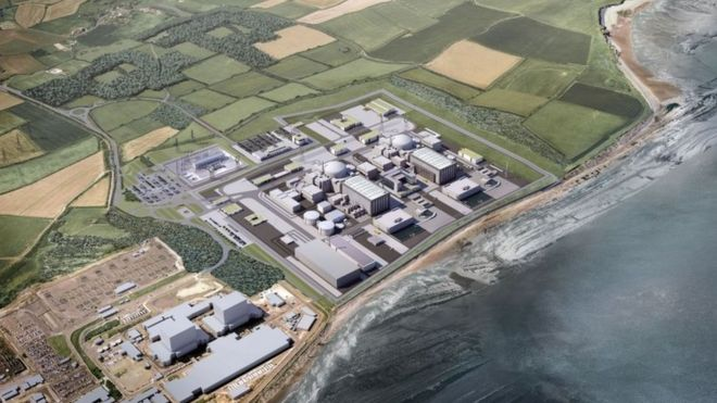 Artist's impression of Hinkley Point C building proposals
