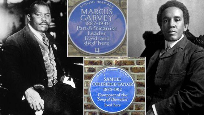 Blue Plaques - Samuel Colerige Taylor & Marcus Garvey