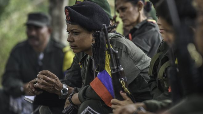 FARC gueriila fighters were forced to have abortions from 1998-2000. (Photo Courtesy of BBC)