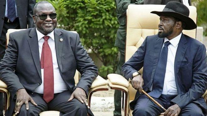 Rais Salva Kiir,kiongozi wa upinzani Riek Machar na mkuu wa jeshi pamoja na familia zao wanafaida zinazofanana