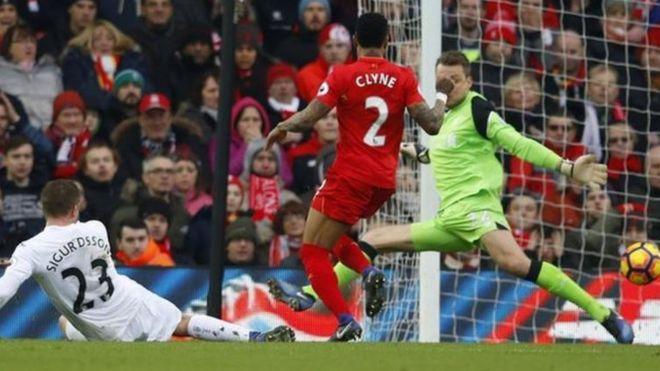 Swansea yailaza Liverpool 3-2