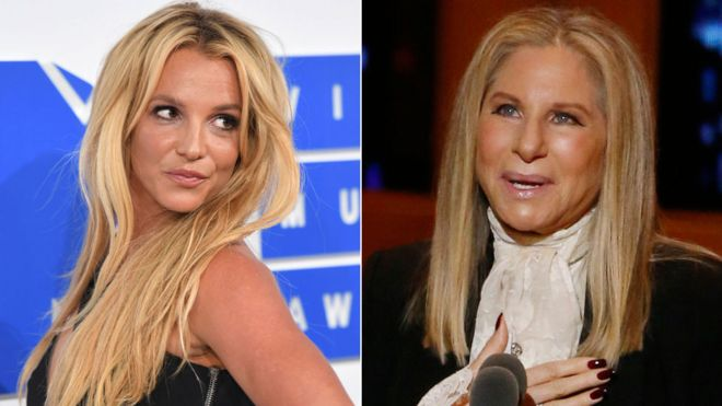 Britney Spears and Barbra Streisand