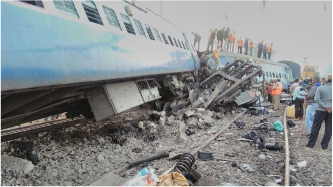 India Andhra Pradesh train crash leaves 39 dead and scores