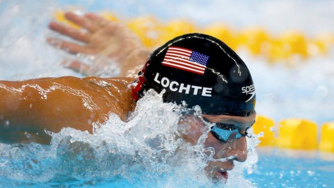 "2016 Rio Olympics - Swimming - Semifinal - Men""s 200m Individual Medley Semifinals - Olympic Aquatics Stadium - Rio de Janeiro, Brazil - 10/08/2016. Ryan Lochte (USA)"