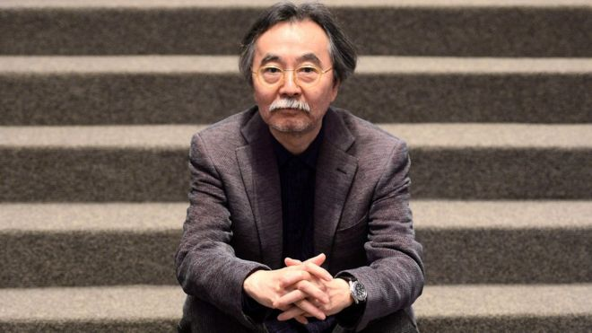Japanese cartoonist Jiro Taniguchi, who died at 69 on 11 February 2017, seen here at the Louvre museum in Paris.