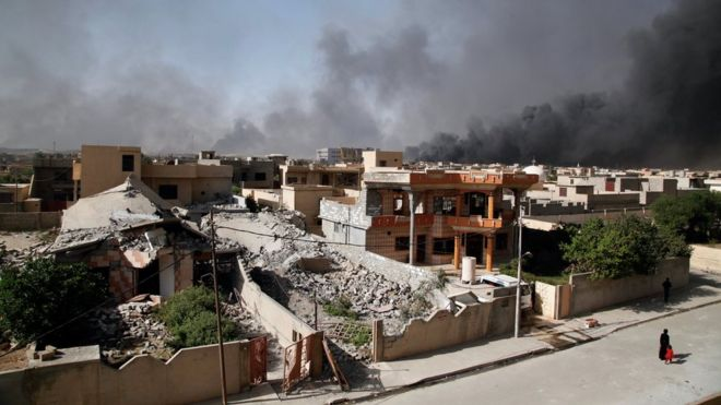 Fuego sobre Qayyarah