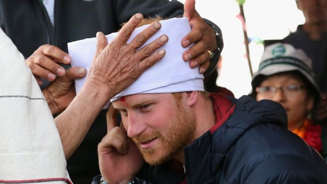 Prince Harry made honorary head of Nepalese village