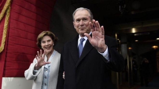 جورج بوش در واکنش به ترامپ از آزادی رسانهها دفاع کرد