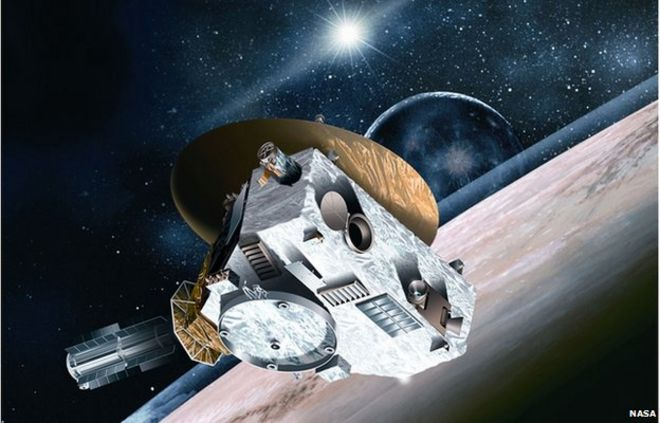 Test Google. Nasa spacecraft speeds past Pluto. Astrologie _84256168_028154438
