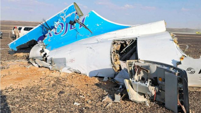Russian Airliner with 224 passengers crashes into Egypt's Sinai, No surivivors