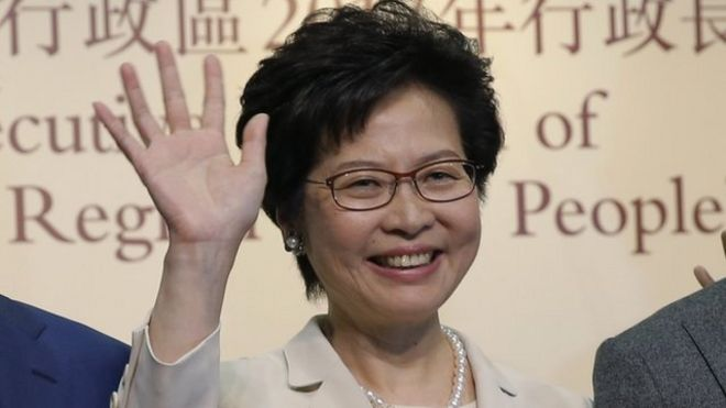 林鄭月娥在無驚無險,無意外,無懸念中當選香港女特首。