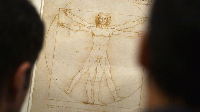 """El """"Hombre Vitruvio"""" de Leonardo Da Vinci."""